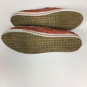 Sanuk Shoes - Sanuk Distressed Burnt Orange Slip On Sneakers 10